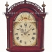 An unsigned mahogany cross-banded cherry case grandfather clock of New England origin. 25124.